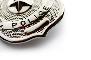stock image of police badge